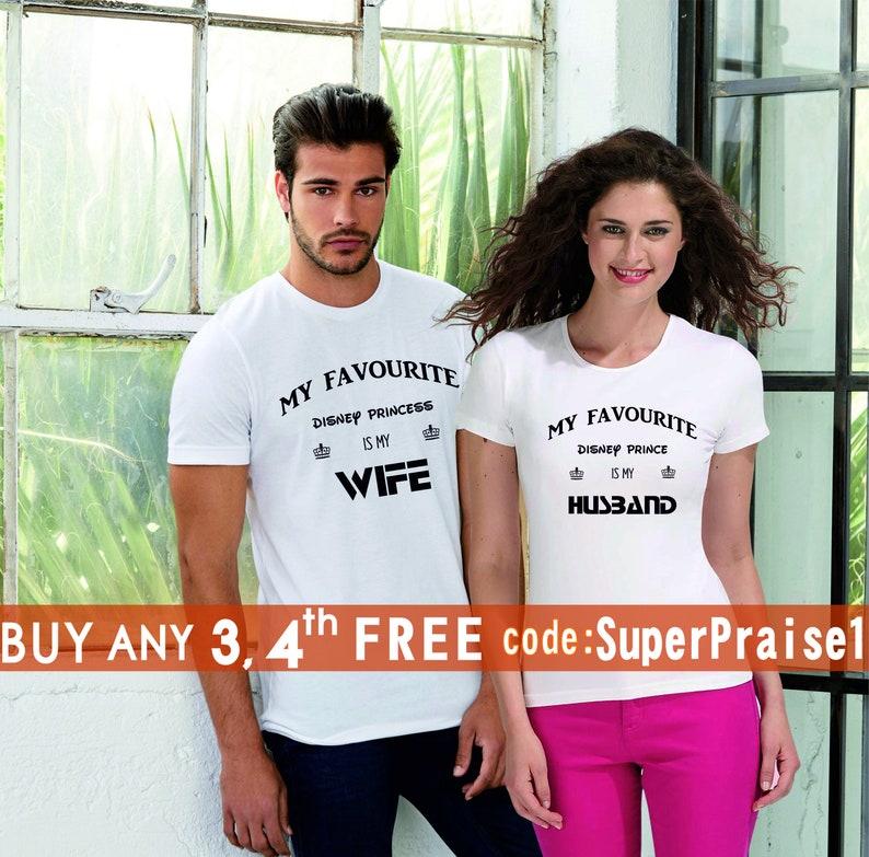 2bd4ad663 Couple Matching T-shirt Husband Wife Shirts hubby wifey Shirts | Etsy