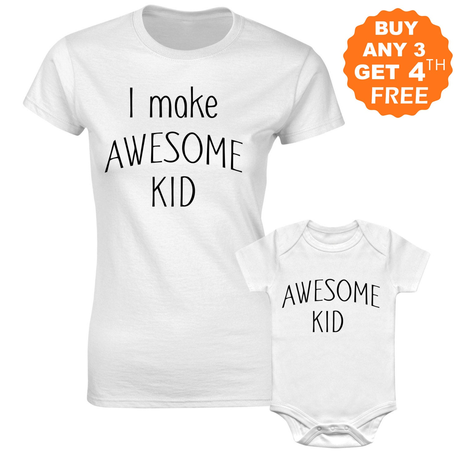 2a7ac2042e Awesome Mommy and Me Shirts Matching Family Outfit Funny | Etsy