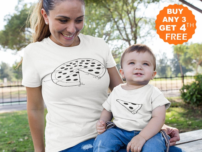 9272966b38d9a Pizza Slice Mommy And Me Outfits Matching Shirts Mother