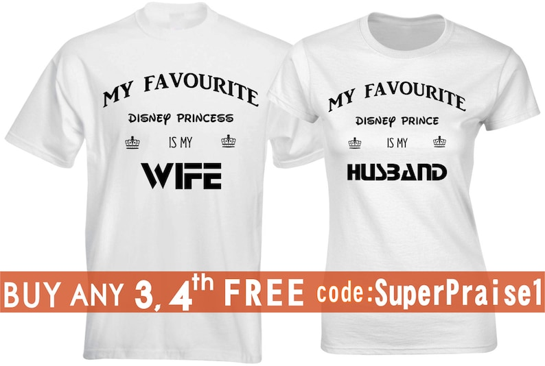 34cf4110f9e Favourite Princess Matching Shirts Honeymoon Outfit couples