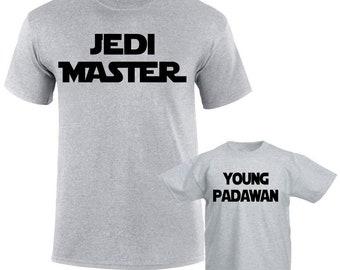 Father Son Matching Shirts Dad Son Shirt  Daughter Shirt Jedi Master Young Padawan Jedi In training Dad Son Daughter Family Matching Shirts