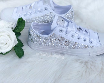 8cefed8372ff9 bedazzled converse for wedding, bedazzled converse for wedding