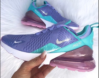 newest f7454 4372b Swarvoski Womens girls nike air max 270 , Nike Air max 270 woth bling