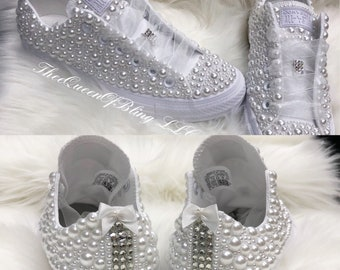 775ad4281c5e Wedding converse with bows