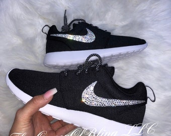 BLACK nike roshe run bling  86d49614b