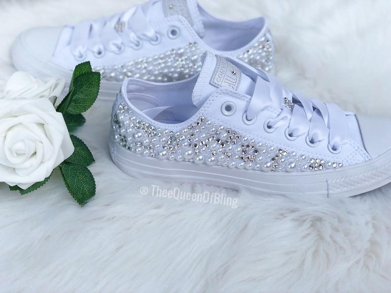 81a6dfd25f05 Wedding Converse Bling converse Pearl converse Bride