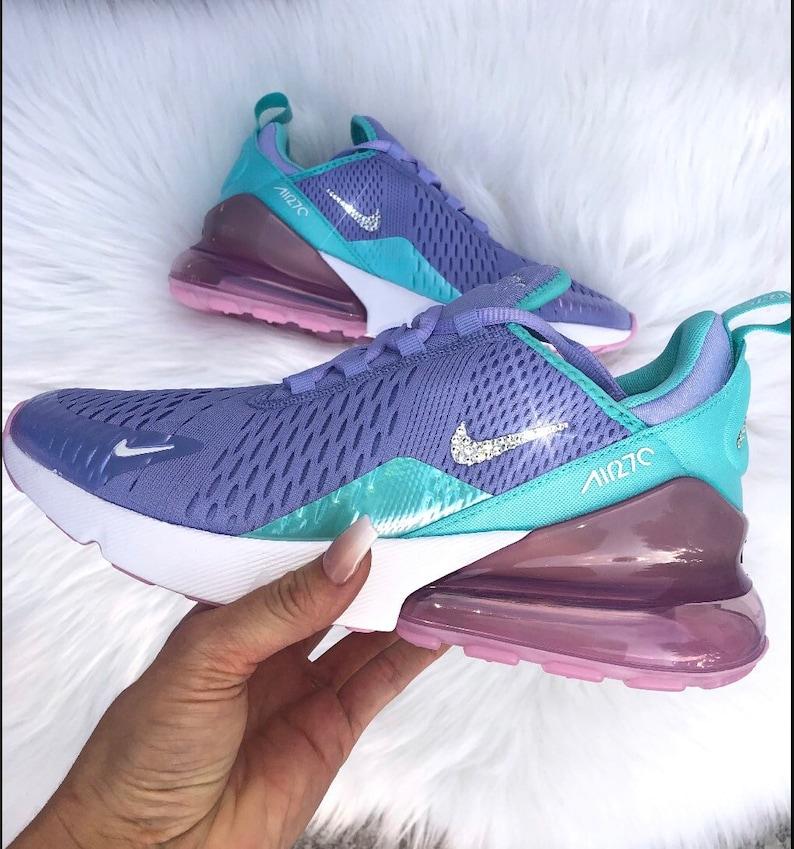 newest 8e879 31fce Swarvoski Womens girls nike air max 270 , Nike Air max 270 woth bling