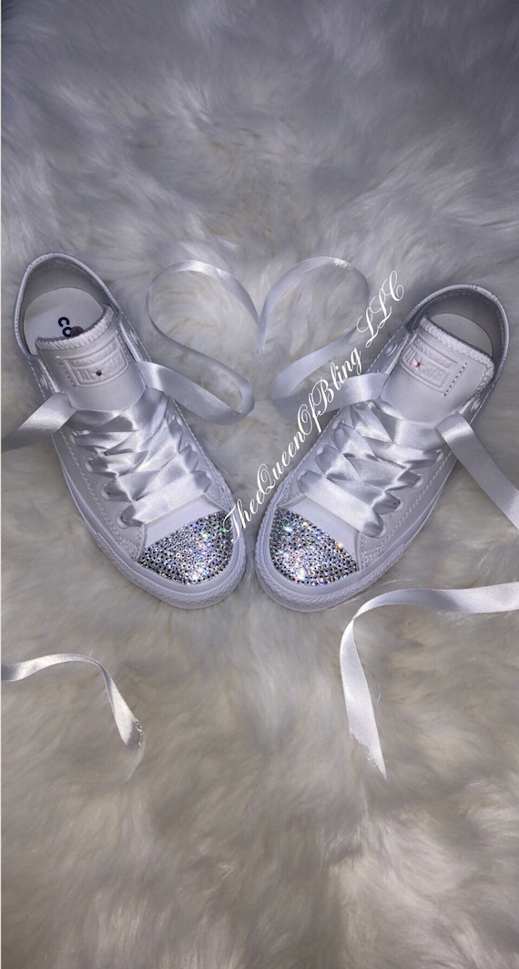 Wedding converse, bridesmaid converse, wedding shoes , swarvoski converse , bride converse, bedazzled converse, bride shoes