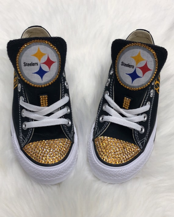 Pittsburgh Steelers custom converse, steelers converse shoes for women