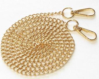 "50"" Gold Handbag Chain • Crossbody Chain Strap • Evening Handbag Chain • Purse Strap • Mask Lanyard • Bride or Bridesmaid Gift • 50"" Long"