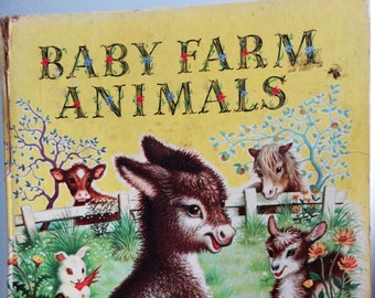Baby Farm Animals Picture Book by Garth Williams, A Golden Book 1953/59 Hardcover