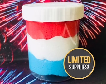 Bomb Pop 4th of July Cloud slime Scented Slime w/Extras Red White Blue slime Popular Summer Slime Instagram Instant Snow Bliss Balm Store