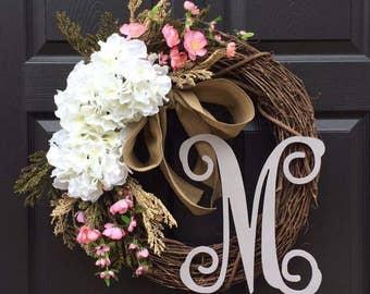 Monogram wreath | Etsy