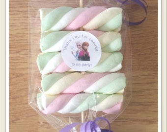 1, 5 or 10 Marshmallow kebabs party favours personalised birthdays wedding favours christenings baby shower