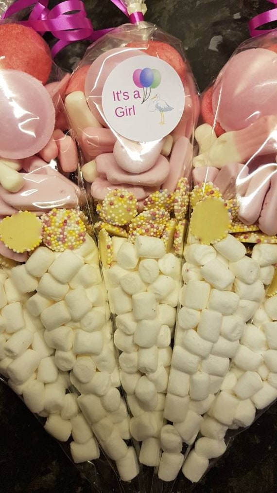 Yellow Baby Shower filled Favour bags