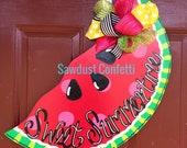 Summer Door Hanger, Watermelon Door Hanger, 4th of July Door Hanger, Sweet Summertime Door Hanger, Summer Wreath