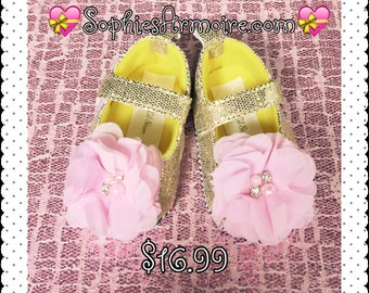 Gold Glitter Shoes*Gold Shoes*Baby Gold Shoes*Gold Sparkle Shoes*