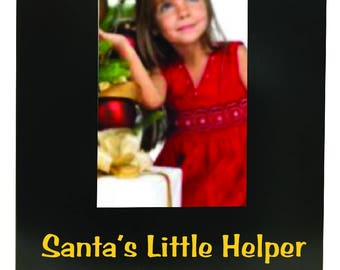 Santa's Little Helper Christmas Picture Frame