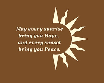 May Every Sunrise Bring You Hope Wall Decal