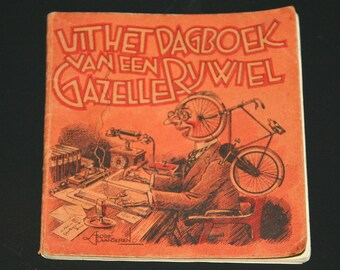 Vintage ad book Gazelle bicycle bike 1929