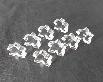 Meeples, 8-pack, Clear