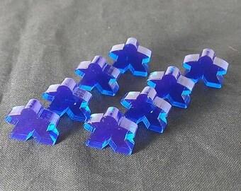 Meeples, 8-pack, Translucent Blue