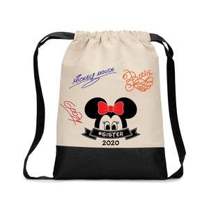 Mickey Minnie inspired tote bag purse Disney inspiredzipper bagcustom madevacationDisney trip autograph