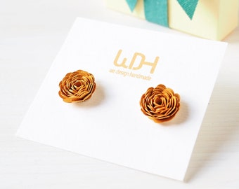 Gift for women_Earrings little roses_ Gift for her_Handmade in Italy_with Silver 925%