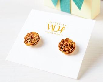 Gift for women_Earrings little roses_Stocking Stuffer_ Gift for her_Handmade in Italy_with Silver 925%