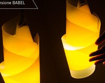 """Pendant Lamp_ """"BABEL""""_ handmade in Italy_Light Design"""