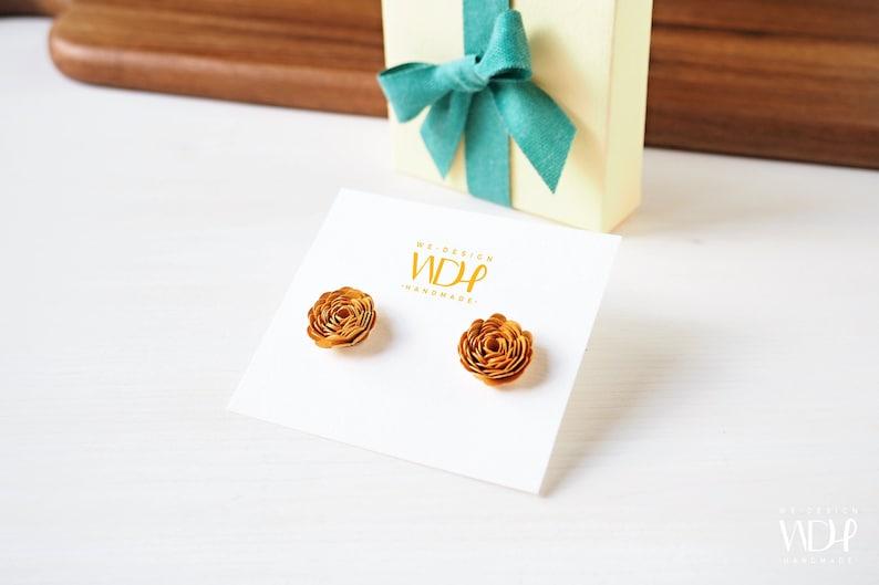 Gift for women_Earrings little roses_Stocking Stuffer_ Gift image 0