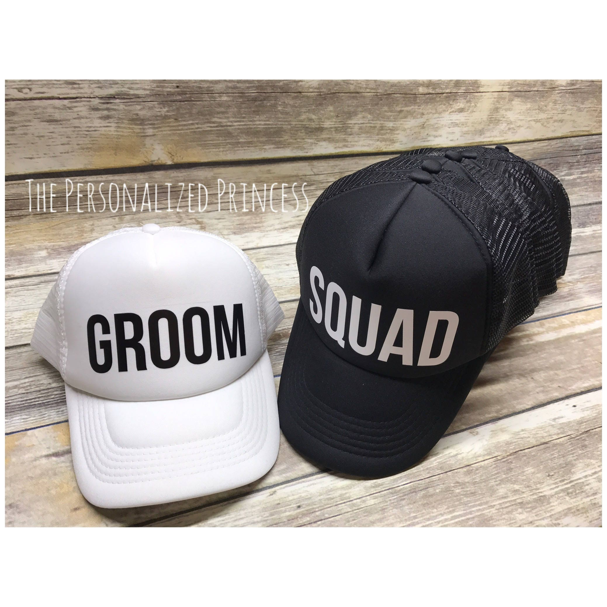 33b27117 Trucker Groom hats Squad hats Bachelor Hats Trucker Hat | Etsy