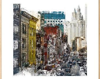 New York Cityscape, New York City, Modern Cityscape, Urban Art, Modern Art, Wall Art, Painting, New York City, Architecture