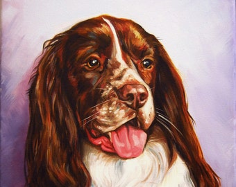 Pet Portraits - Original Painting on Canvas Board - Dog and Cat Portraits - Animal Paintings