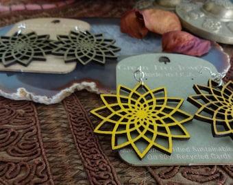 Handmade Laser Cut Wood Jewelry