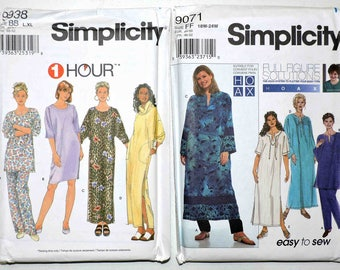 Simplicity Misses Nightshirt Nightgown Lounge Dress Pants Tunic Patterns  9938 9071 a67679282