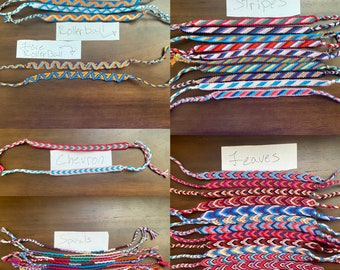 Friendship Bracelets - Choose Your Pattern & Colors