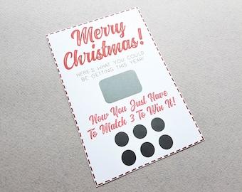 Rude Scratch Off Christmas Card, Xmas Card, Rude Card, Naughty, Boyfriend Card, Girlfriend Christmas, Christmas Gift, Naughty Gift, Kinky