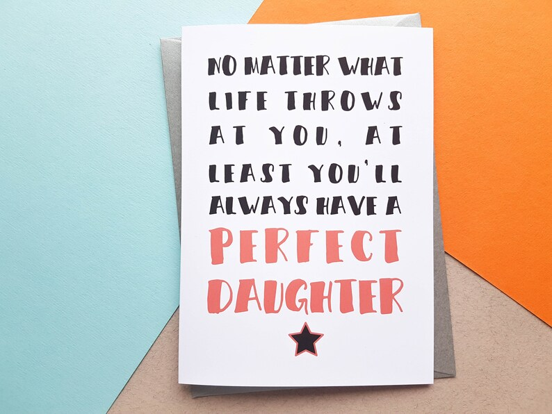 Funny Fathers Day Card Perfect Daughter Card Dad Birthday image 0