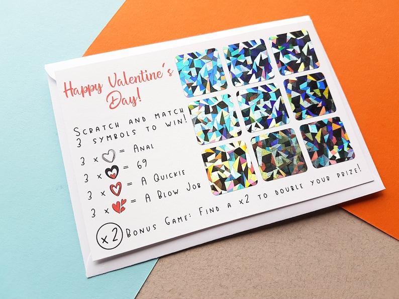 Rude Scratch Off Valentines Card Boyfriend Card Valentines image 0