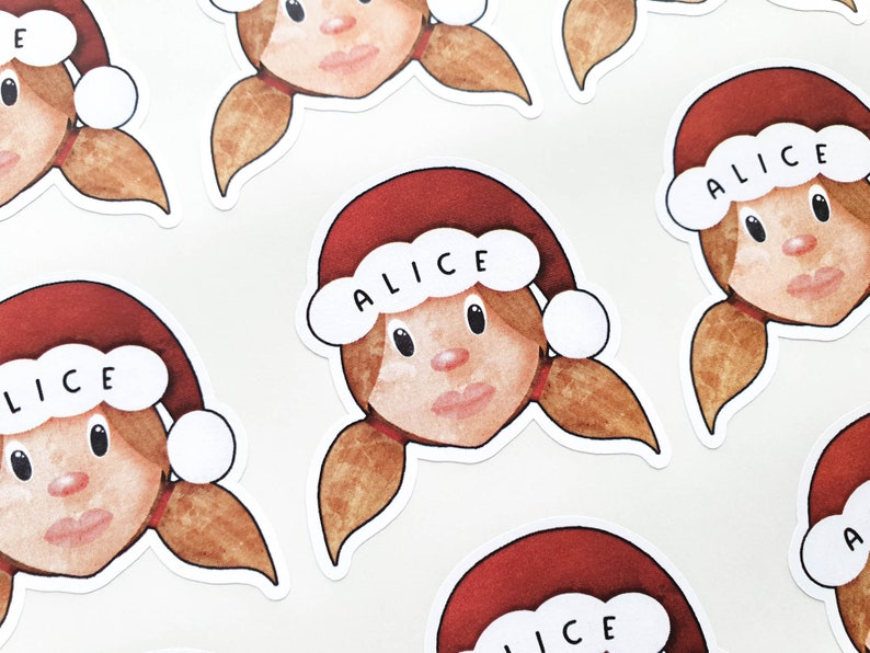 Personalised Mrs Claus Stickers  Childrens Xmas Gift  Love image 0
