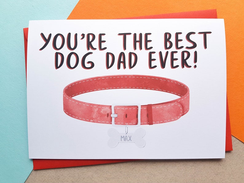 Personalised Dog Dad Father's Day Card  Dog Dad Card  image 0