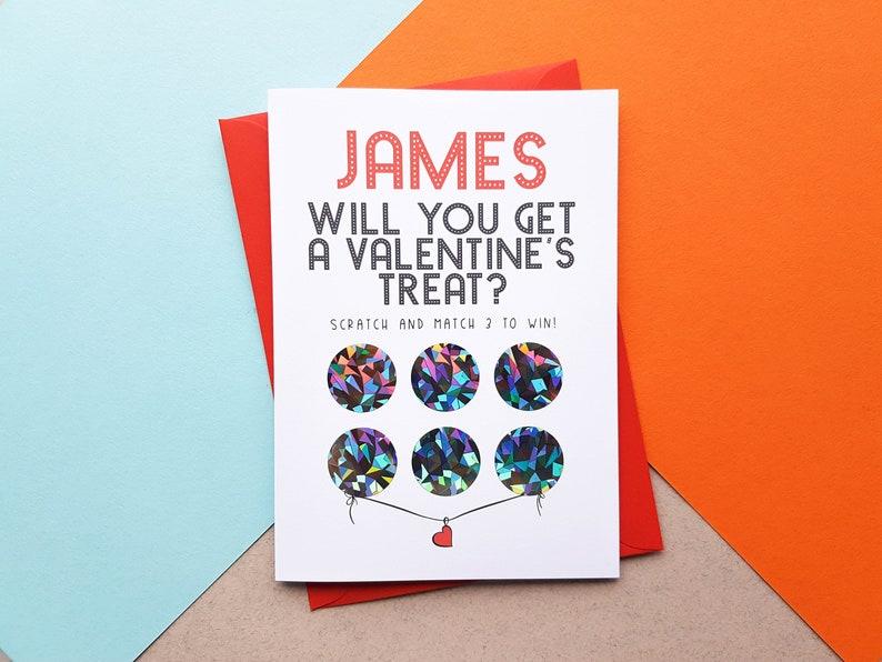Personalised Rude Scratch Off Valentines Card Boyfriend image 0