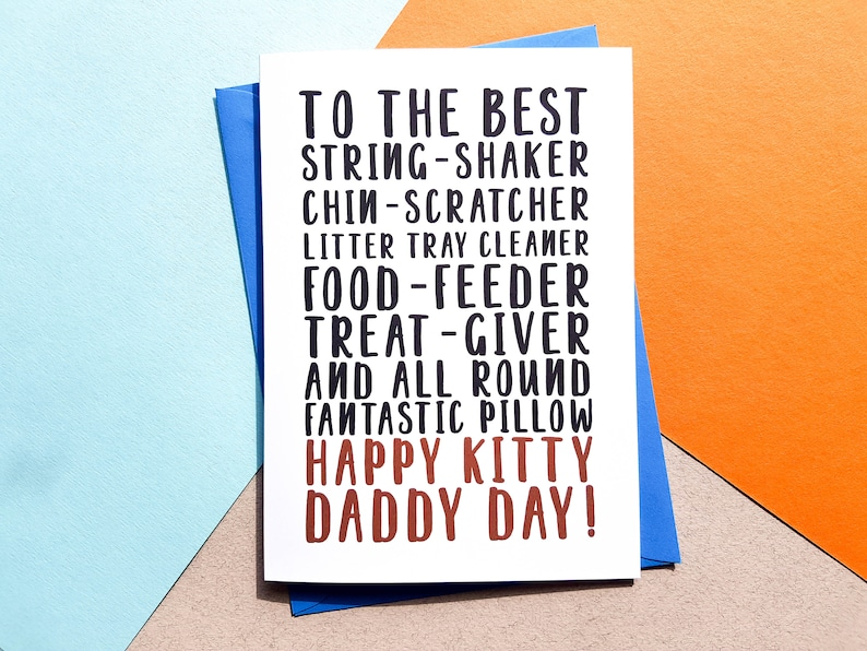 Funny Cat Father's Day Card Cat Dad Card Cat Father image 0