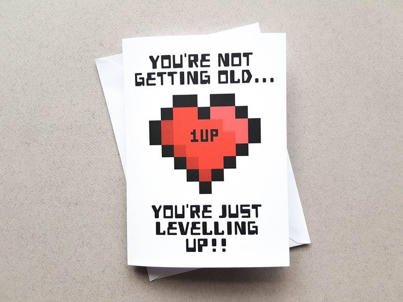 Gamer Birthday Card Geeky Youre Not