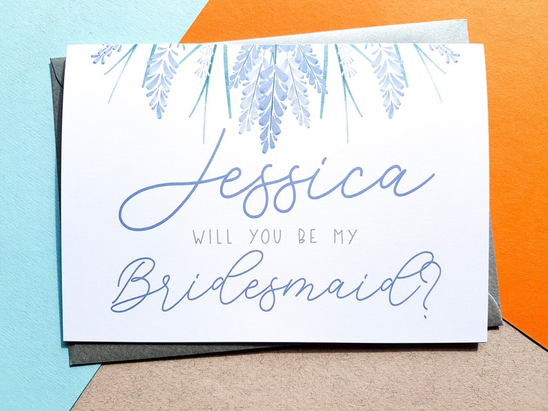 Personalised Will You Be My Bridesmaid Card  Wedding image 0