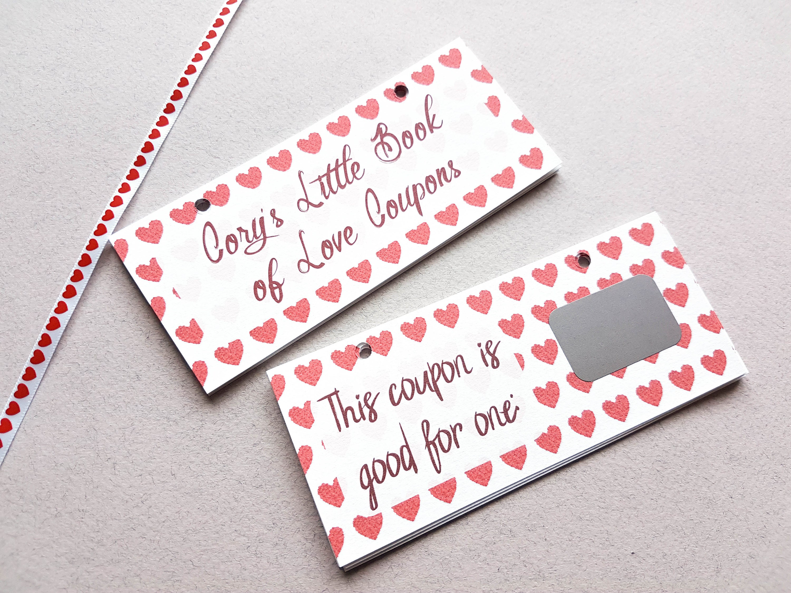adult love coupons scratch off valentines gift voucher | etsy