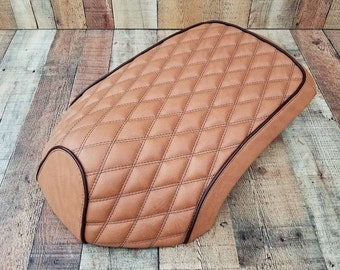 BLACK /& YELLOW CUSTOM FITS YAMAHA XF 50 GIGGLE DUAL LEATHER SEAT COVER ONLY