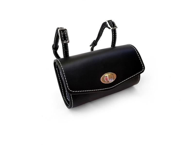 Leder Vespa Roller Mini Roll Tasche Schwarz Full Grain Leder Etsy