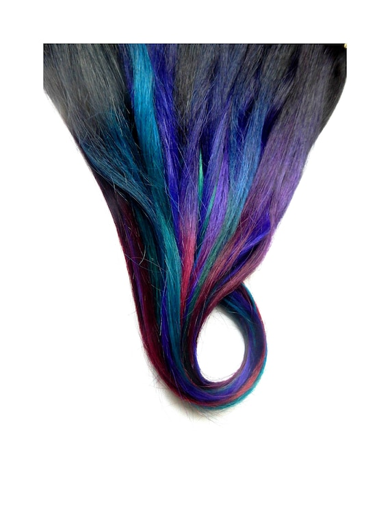 Oil Slick Hair Extensions Galaxy Ombre Extensions Human Etsy